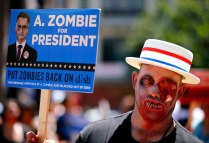 Zombi demanant el vot