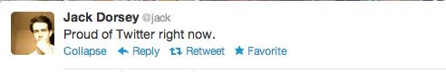 Tweet Jack Dorsey